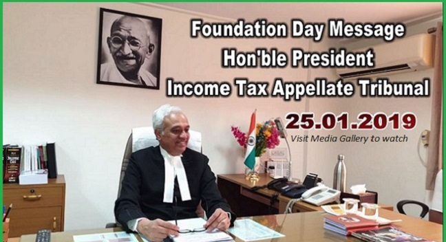 Hon'ble Justice P.P. Bhatt, President delivering Foundation Day Message