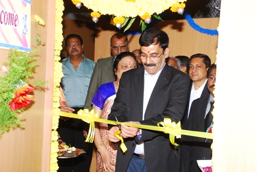 Shri Chandra Poojari, Senior Member inaugurating a Court Room.