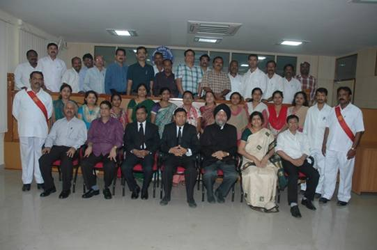 Shri H.L. Karwa, Hon'ble President with Members and staff of ITAT, Bangalore Benches.